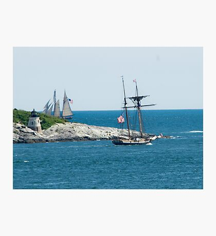Around the Point and Out to Sea Photographic Print