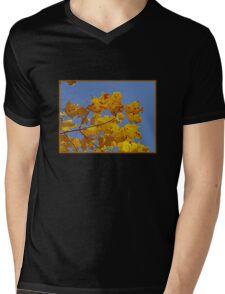 Yellow Leaves Mens V-Neck T-Shirt