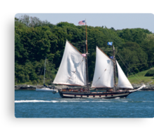 Tall Ship Sailing Past Newport, RI Canvas Print
