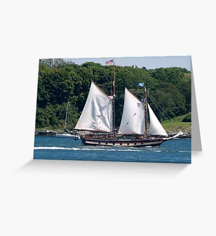 Tall Ship Sailing Past Newport, RI Greeting Card