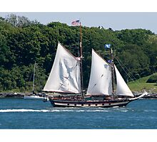Tall Ship Sailing Past Newport, RI Photographic Print