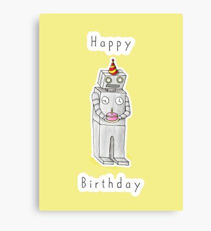 Birthday Bot Canvas Print