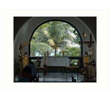 Altar amid Palms Art Print