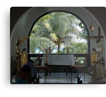 Altar amid Palms Metal Print