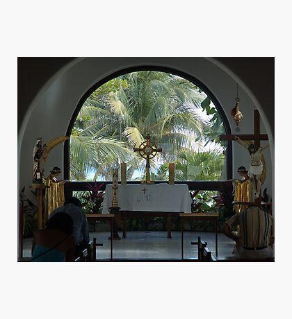 Altar amid Palms Photographic Print
