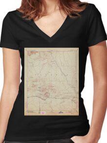 USGS TOPO Map Arizona AZ San Francisco Mtns 315603 1894 250000 Women's Fitted V-Neck T-Shirt