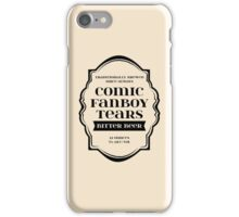 Comic Fanboy Tears Bitter Beer - Bottle Label Design iPhone Case/Skin
