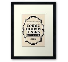 Comic Fanboy Tears Bitter Beer - Bottle Label Design Framed Print