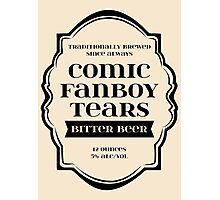 Comic Fanboy Tears Bitter Beer - Bottle Label Design Photographic Print
