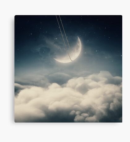 The swinging moon Canvas Print