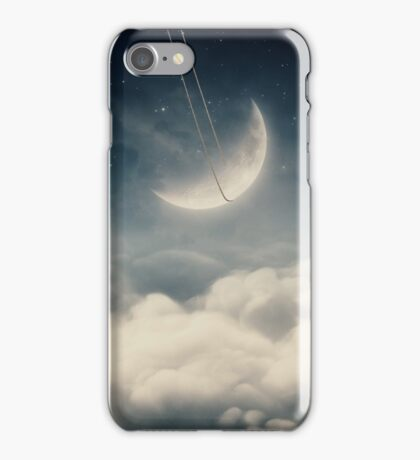 The swinging moon iPhone Case/Skin