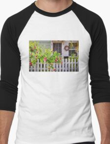 Shabby Chic Beach Cottage   Men's Baseball ¾ T-Shirt