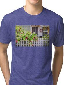 Shabby Chic Beach Cottage   Tri-blend T-Shirt