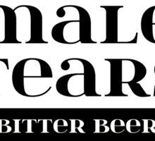 Male Tears Bitter Beer - Bottle Label Design Sticker