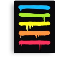 Trendy Cool Graffiti Tag Lines Canvas Print
