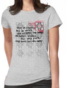 Companion Cube graffiti Womens Fitted T-Shirt