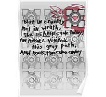 Companion Cube graffiti Poster