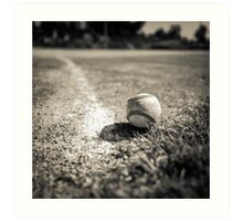 Baseball on the Edge Art Print