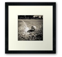 Baseball on the Edge Framed Print