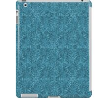 Moroccan Teal Textured Pattern iPad Case/Skin