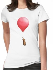 Bear Balloon Womens Fitted T-Shirt