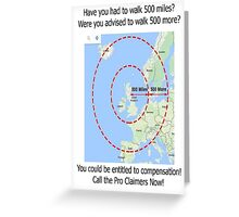 Walking Proclaimers Greeting Card