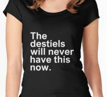 Supernatural - The destiels will never have this now Women's Fitted Scoop T-Shirt