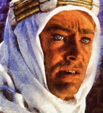 Peter O'Toole as Lawrence of Arabia Sticker