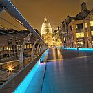 Millennium Bridge, London, England by Justin Mitchell