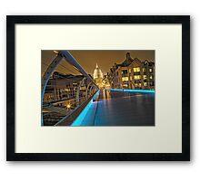 Millennium Bridge, London, England Framed Print