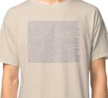 The Drunk History of Fall Out Boy Classic T-Shirt