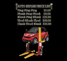 ☝ ☞ $ AUTO CAR REPAIR PRICE LIST THROW PILLOW $☝ ☞ by ✿✿ Bonita ✿✿ ђєℓℓσ