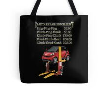 ☝ ☞ $ AUTO CAR REPAIR PRICE LIST THROW PILLOW $☝ ☞ Tote Bag