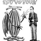 HP Lovecraft and Elder Thing by aglastudio