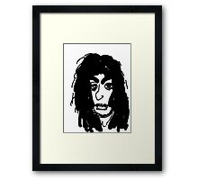 late 80's glam metal guitarist from hair band Framed Print