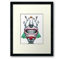 ojama king yugioh Framed Print