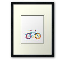 Unisex Bicycle Illustration Framed Print