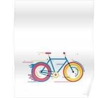 Unisex Bicycle Illustration Poster