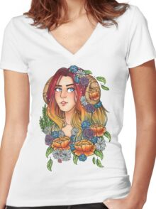 Dawn Women's Fitted V-Neck T-Shirt