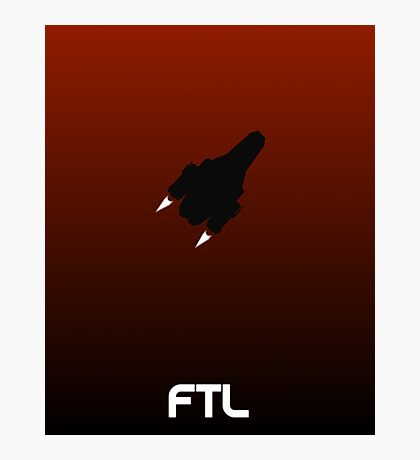 Faster Than Light minimalist poster Photographic Print