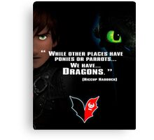 How to train you Dragon Canvas Print