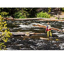 Fly Fishing In Yellowstone - 2 Photographic Print