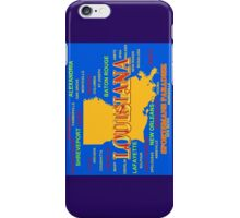 Colorful Louisiana State Pride Map Silhouette  iPhone Case/Skin