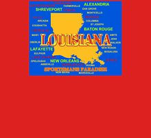 Colorful Louisiana State Pride Map Silhouette  Unisex T-Shirt