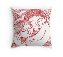 I love you - Three Throw Pillow