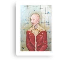 Self Portrait in Red Western Shirt Canvas Print