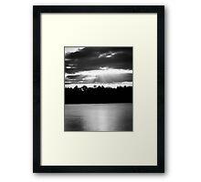 Bold Rays in Monochrome Framed Print