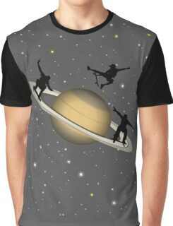 Skateboarding Saturn Graphic T-Shirt