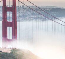 Golden Gate Bridge fog Sticker