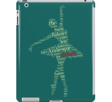 Ballet Typography : Yellow - Red iPad Case/Skin